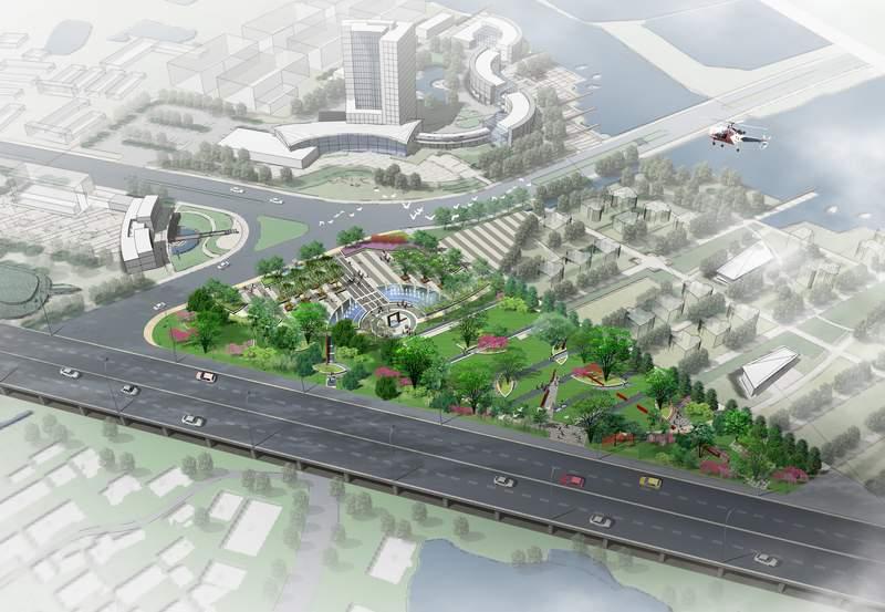 禄口新城入口区城市设计即启动区景观设计