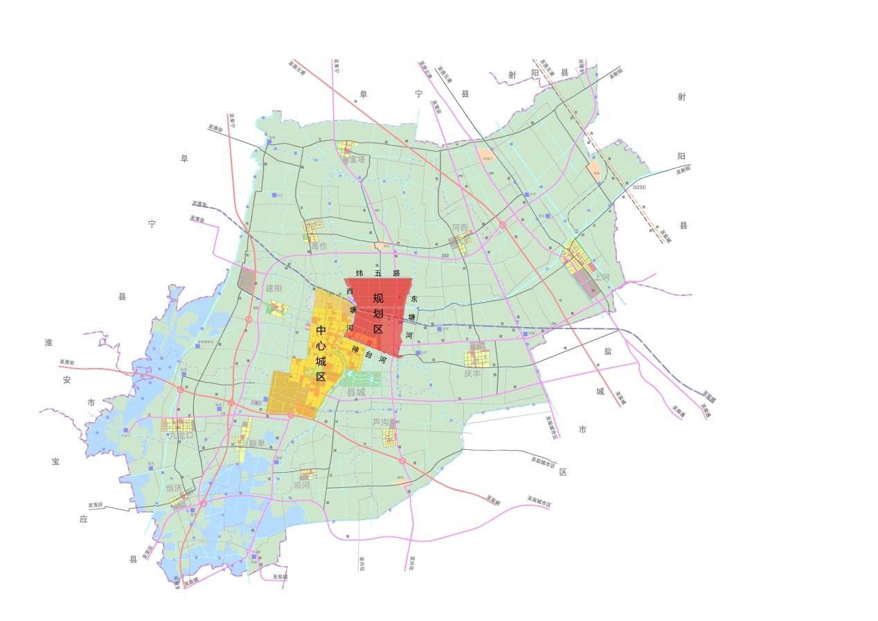 建湖宝塔镇卫星地图